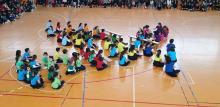 Colegio Esclavas SCJ celebrando el día de la Paz y no violencia