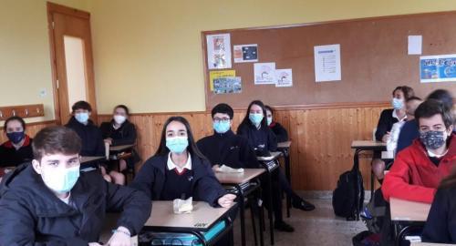 Campaña de Manos Unidas realizada en el colegio Esclavas